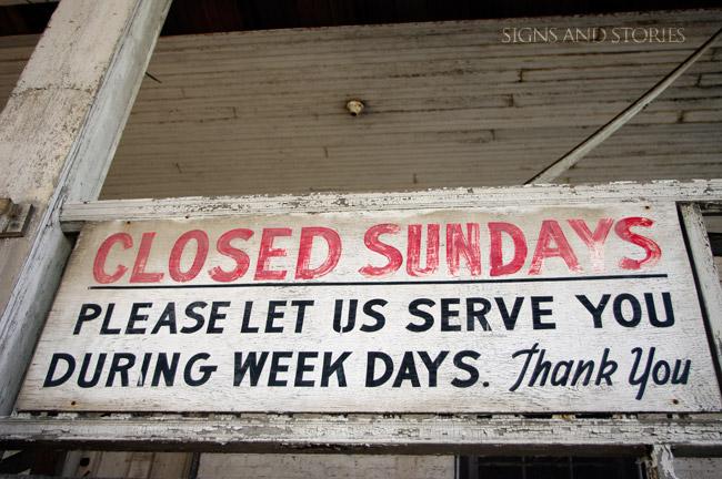 closed-sundays
